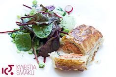 Łosoś w cieście francuskim z surówką z botwinki Meatloaf, Nom Nom, Salt, Recipes, Recipies, Salts, Ripped Recipes, Cooking Recipes