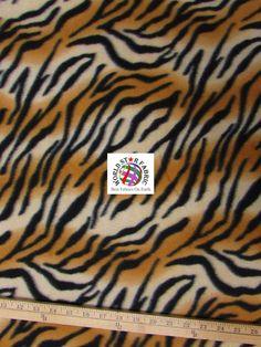 "Fading #Brown #Zebra Anti-pill #Fleece Fabric 60"" Width Sold By The Yard"
