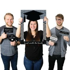 Silver Tassel Worth The Hassle - Graduation Party Photo Booth Picture Frame & Props - Printed on Sturdy Plastic Material