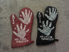 Creative Party Ideas by Cheryl: Helping Hands Mother's Day Pot Holder's