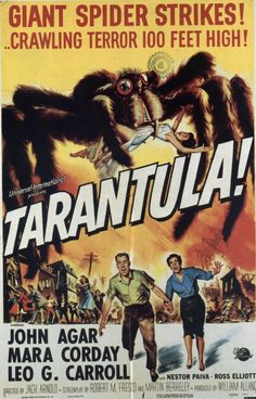 "MP126. ""Tarantula!"" American Movie Poster by Reynold Brown (Jack Arnold 1955) / #Movieposter"