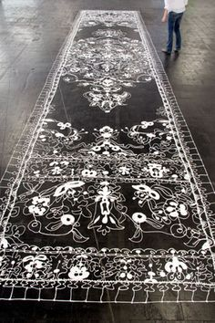 Silicone rug -   I would of just painted the design on my floor but concept great