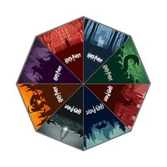 LaHuo Harry Potter Complete Works Logo For Harry Fans Custom Design Travel Folding Umbrella Auto Open Close Windproof Compact For Easy Carrying Firm Durable Lifetime Guarantee Umbrella ** Learn more by visiting the image link. (Note:Amazon affiliate link)