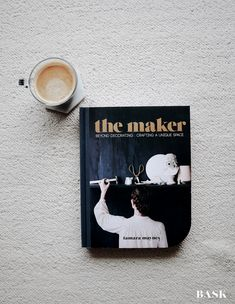 Saturday Reading Photo by Marisa Niemandt // BASK Photography . . . . #TheMaker #reading #read #book #coffee