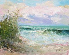 Morning Tide by Jane Woodward Palette Knife on Canvas