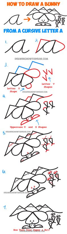 how to draw a rabbit face easy