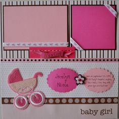 New Baby Girl Scrapbook Layouts | Baby Girl's First Year 22 Premade Scrapbook by RRichCreations
