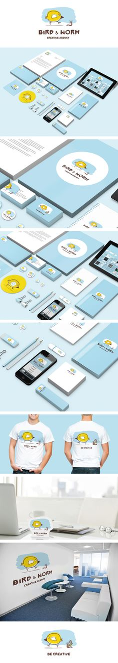 Cool Brand Identity Design. Bird Worm. #branding #brandidentity [http://www.pinterest.com/alfredchong/]