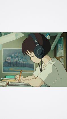 Studio Ghibli Art, Studio Ghibli Movies, Cute Cartoon Wallpapers, Animes Wallpapers, Aesthetic Art, Aesthetic Anime, Japanese Animated Movies, Japon Illustration, Cartoon Fan