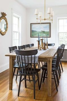 50 Of The Most Beautiful Country Homes Across All States Farmhouse Dining Room Tablecountry