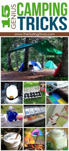 15 Genius Camping Tricks #canoetricks