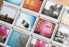 Polaroid coasters from Etsy seller justnoey - I love the imagery!
