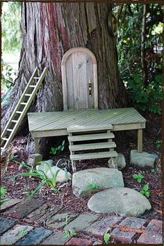 this one is mostly symbolic as likely the door doesn't open, but this doesn't matter as all you are trying to do by making a fairy house is make the fairies feel welcome in their own land again