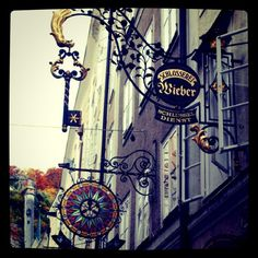 Interesting sign of locksmith's shop in Salzburg by siberian_chow_flickr, via Flickr