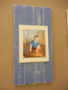 Instead of clip boards for pictures these are a cute picture/art display to make! @Lundy Morrison for baileys room possibly if you cant find enough clip boards