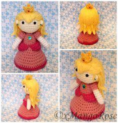 Princess Peach Doll Crochet Pattern Amigurumi