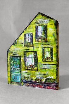 My Art Adventures: Mixed Media Houses