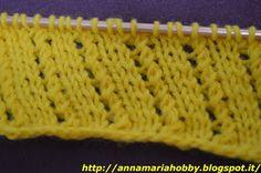 Il mio Mondo: punto fantasia da lavorare a maglia           un p...