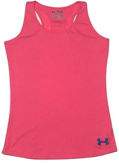 Under Armour YXL Youth XL Girls Victory Tank Top Pink UA Teen Shirt Fitted | eBay