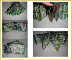 Recycled toilet paper roll album. So fun and fresh. By The Craft Donkey $20