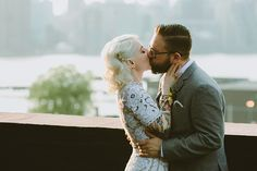 wedding photographers in Brooklyn - photos by Shannon Roddy and Elena Mudd for Amber Gress Photography http://ruffledblog.com/stylish-greenpoint-loft-wedding