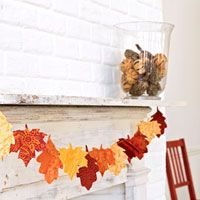 How to make a bright leaf garland.