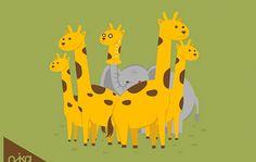 Everyone wants to be a giraffe: even elephants.