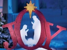 wooden silhouette nativity scene - Google Search