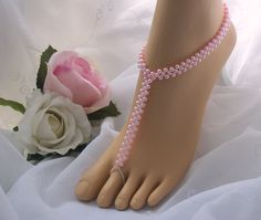Pearl Wedding Barefoot Sandals -  Beach Wedding Bridal Foot Jewelry inspiration
