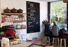 viva movida bakery via broadsheet Melbourne Bars, Melbourne Restaurants, Coffee Cafe, Coffee Shop, Cafe Me, Cafe Interior, Lemon Curd, Bar Stools, Bakery