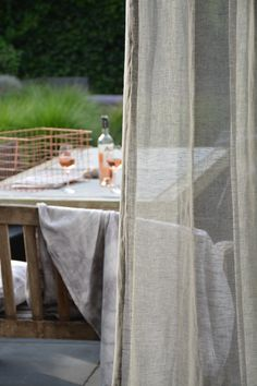Transparant linnen gordijn cirrus soft grey van echtgordijn