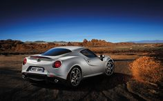Alfa Romeo 4C is available in two versions: Carrara White or Alfa Red. Interior is reinforced with carbon aerodynamic kit, aluminum rear diffuser, Bi-LED headlights and 18-inch polished wheels in front and 19-inch polished wheels back.