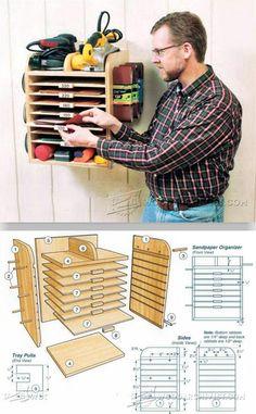 Sandpaper Organizer Plans - Sanding Tips, Jigs and Techniques | WoodArchivist.com
