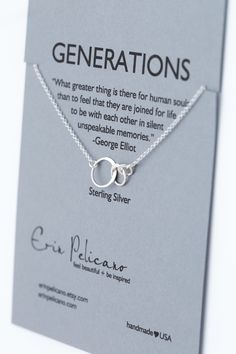 Generations Necklace. Family. Sisters. Mother. by erinpelicano