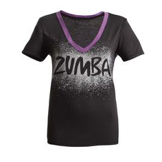 What's better than slipping into your stylishly comfy V-neck tee? How about slipping into your new favorite Cosmic Blast V-Neck, featuring the comfy you love with a blast of galactic goodness on the front of the shirt (to complement the oh-so-stellar Zumba® logo)! #zumbaclothes #zumbaclothing