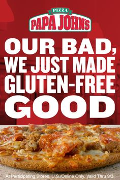Gluten-Free Crust small 2-top pizza $9.99. Introducing our new Gluten-Free Crust pizza, made with fresh, never frozen dough and ancient grains, including Quinoa, Sorghum, Amaranth, and Teff. It's thin, crispy and unbelievably delicious flavor. Not recommended for customers with celiac disease.