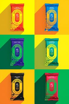 These Energy Bars Will Make You Look at the Bright Side — The Dieline - Branding & Packaging Design Branding that The Indie Practice love! Ice Cream Packaging, Organic Packaging, Cool Packaging, Food Packaging Design, Packaging Design Inspiration, Brand Packaging, Cereal Packaging, Food Branding, Branding Design