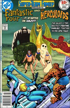 Super-Team Family: The Lost Issues!: The Fantastic Four and The Herculoids You are in the right place about Comic Book spiderman Here we offer you the most beautiful pictures about the Comic Book word Comic Book Covers, Comic Books Art, Comic Art, Book Art, Classic Comics, Classic Cartoons, Looney Tunes, Marvel And Dc Crossover, Avatar