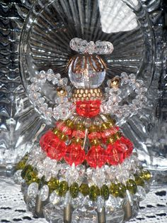 Vintage Christmas Angel Ornaments  Bead and by vintageexchange