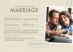 save the date cards - Marriage Application by Vanessa Wyler