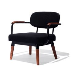 The Ingrid Chair is a contemporary take on the mid-century modern lounge chair. This piece blends steel, wood, and upholstery for a sleek design perfect for residential or commercial use. Luxury Dining Chair, Dining Chairs, Lounge Chairs, Blue Chairs, Chair Upholstery, Upholstered Chairs, Apartment Needs, Swivel Rocker Recliner Chair, Chair Bench