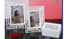 Regali e Bomboniere - Dettaglio prodotto - MATRIMONIO E ANNIVERSARIO - PORTA FOTO FARFALLE  24 CM. LEGNO HYPE