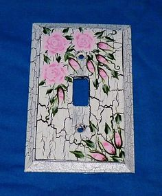 Light Switch Plate Outlet Covers ~ CHIC HOME DECOR SONG BIRD WITH SHABBY FLOWERS