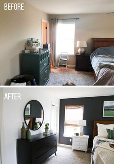 Master Bedroom Makeover – Thriving Home – Bedroom Inspirations Small Master Bedroom, Master Bedroom Makeover, Home Bedroom, Modern Bedroom, Bedroom Decor, Bedroom Furniture, Master Bedrooms, Bedroom Makeover Before And After, Bedroom Makeovers