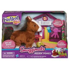 You'll have all the fun of a real pony when you play with this adorable snuggly Whisper Moon pony pet! She looks like a sweet little horse on the range and she really walks like a high-steppin' ...