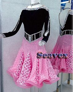 Women Ballroom Salsa Rumba Latin Cha Samba Dance Dress US 6 UK 8 Black Pink in Clothing, Shoes & Accessories, Dancewear, Adult Dancewear | eBay