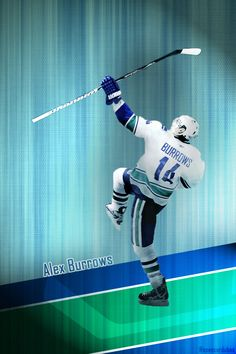 Vancouver Canucks, Alex Burrows salute to lost teammate Luc. Hockey Teams, Hockey Players, Ice Hockey, Hockey Stuff, Canada Hockey, Vancouver Canucks, Sports Figures, Good Ol, Background S