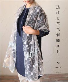 4fc9b2dccaf88  楽天市場  再入荷♪5月24日12時 22時より 「mori」透ける草花刺繍ストール:cawaii