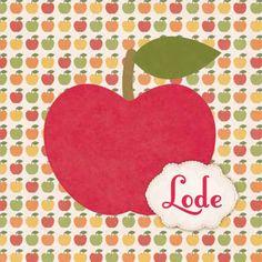 Geboortekaartje Lode - retro vintage appel kaartje - www.petitkonijn.nl