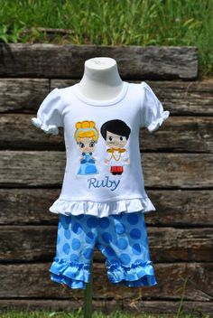 Custom Cinderella and Prince Charming by HootnHollarClothing, $55.00